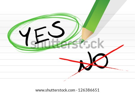 yes and no choice illustration design over a white background - stock photo