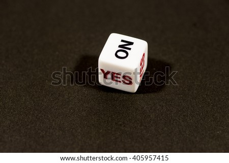 Yes and No dice - stock photo