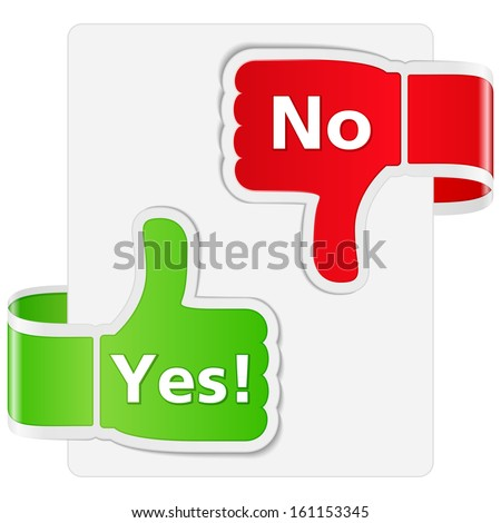 Yes and No Signs - stock photo