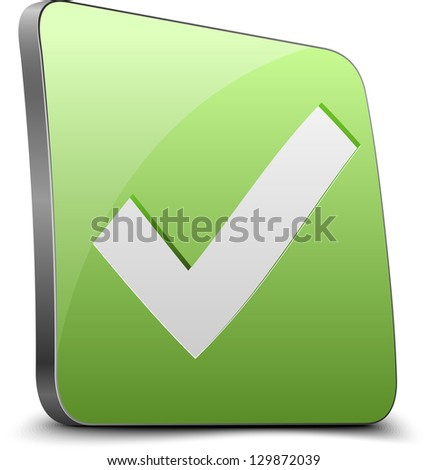 Yes button - stock photo