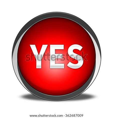 yes button isolated