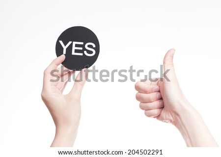 Yes decision  - stock photo
