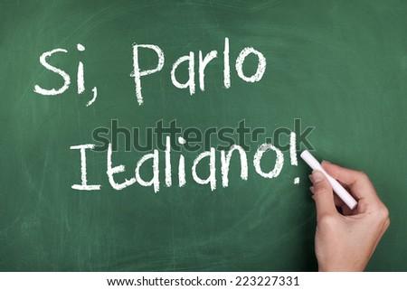 Yes I Speak Italian / Learning Speaking Italian language Concept - stock photo
