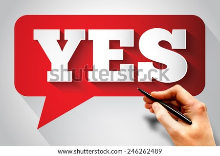 YES message bubble, business concept - stock photo