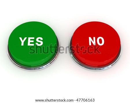 Yes no button - stock photo