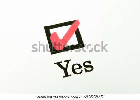 Yes No check box - stock photo