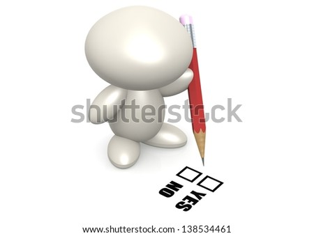 Yes or no - stock photo