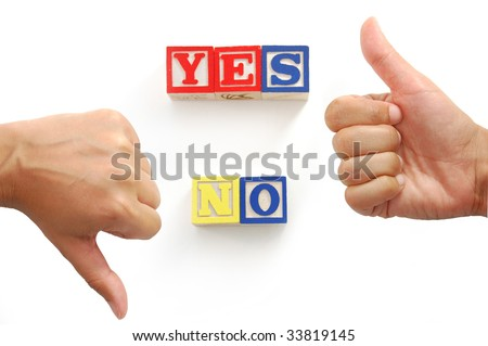 Yes or no? - stock photo