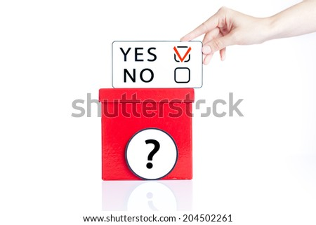 Yes or no decision making - stock photo