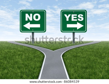 Yes No Decision Symbol Represented By Stock Illustration