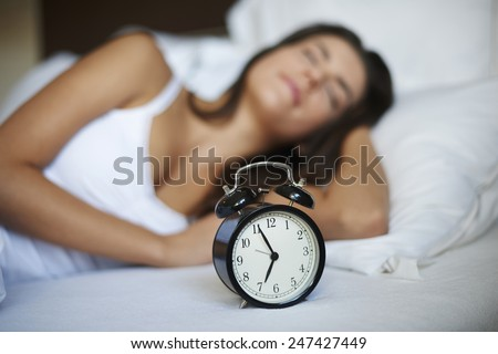 Yet only five minutes of sleep  - stock photo