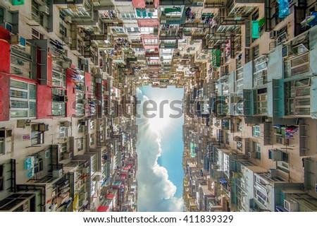yichang building in hong kong - stock photo