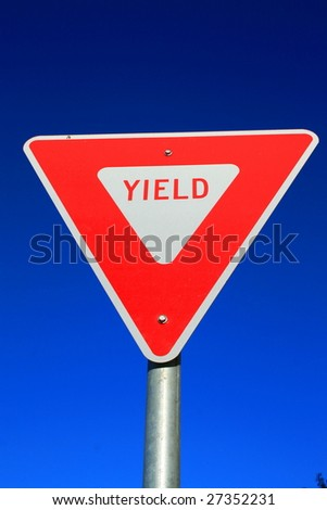 Yield Sign - stock photo
