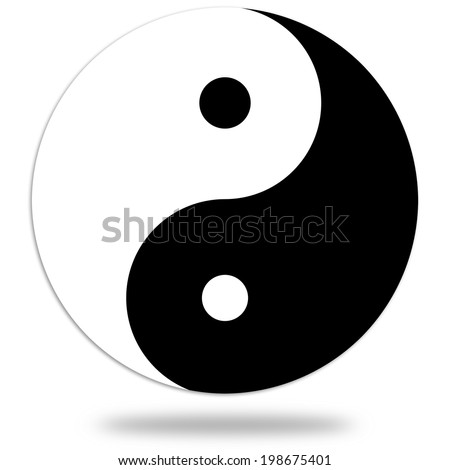 Yin and Yang symbol - stock photo