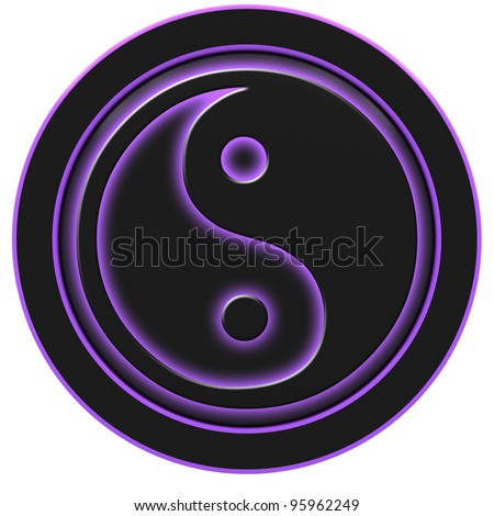 Yin and Yang symbol on a white background. - stock photo