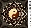 yin yang - stock photo