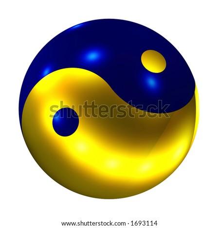 Yin Yang Ball - stock photo