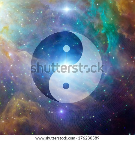 Yin Yang Celestial - stock photo