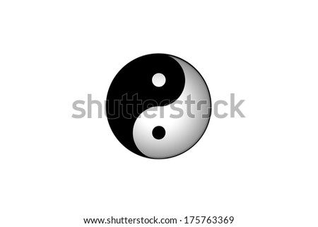 Yin yang symbol. - stock photo