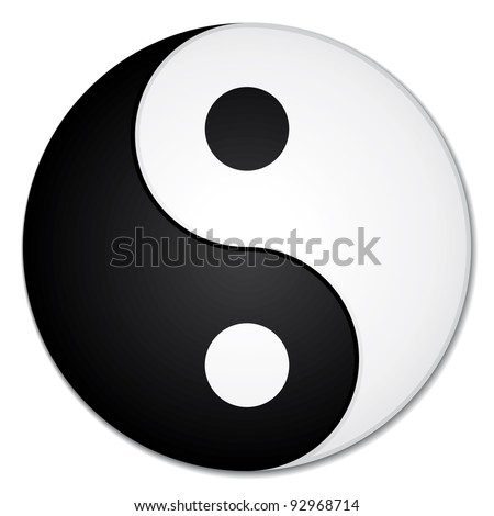 Yin & yang symbol. - stock photo