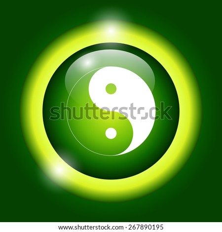 Yin Yang Symbol - Black and White  Illustration