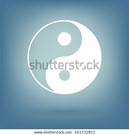 Yin yang symbol of harmony and balance. - stock photo