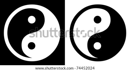 Ying-Yang sign - stock photo