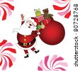 Yippee Santa - with gifts and candy jpeg - stock photo