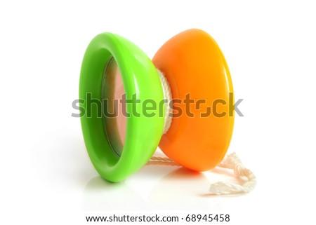 Yo-yo toy on a white background - stock photo