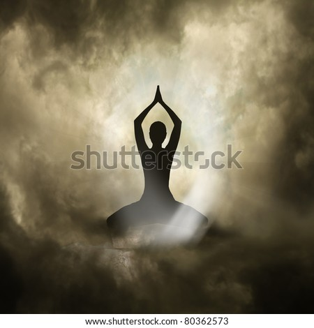 Yoga and Spirituality - stock photo