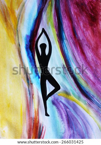 Yoga background or Yoga pose - stock photo