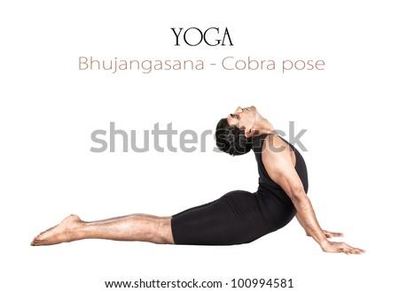 yoga bhujangasana cobra poseindian stock photo