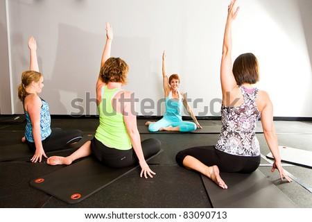 Yoga Class - stock photo