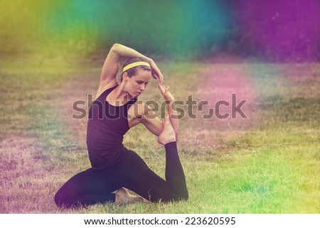 Yoga, colored image - stock photo