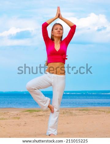 Yoga Fitness Woman  - stock photo