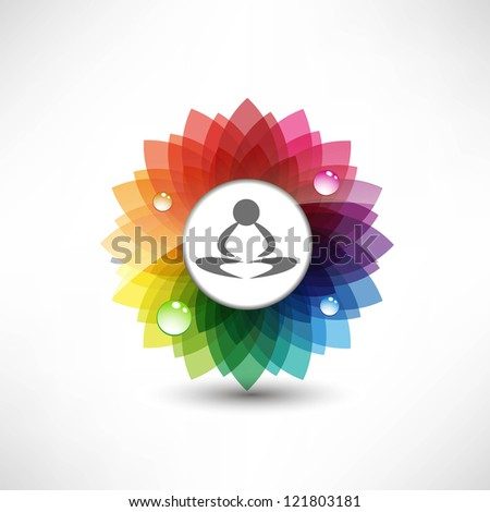 Yoga. Illustration meditation - stock photo