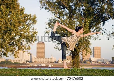 Yoga in Baton Rouge, Louisiana - stock photo