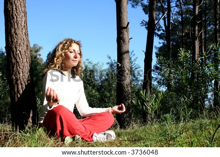 Yoga in nature - stock photo