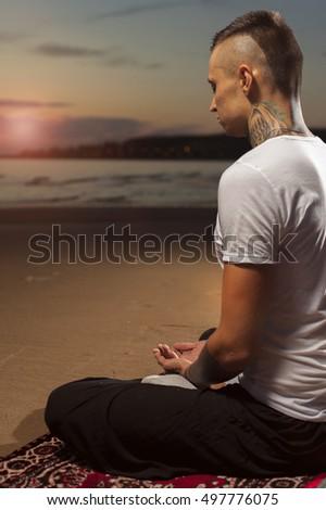 meditation man stock images royaltyfree images  vectors