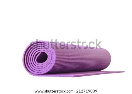 yoga mat isolated - stock photo