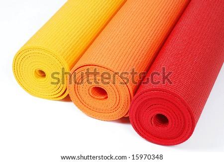 Yoga mats - stock photo
