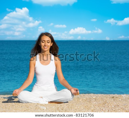 yoga meditation - stock photo
