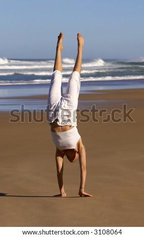 yoga meditation pose - stock photo