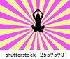 Yoga pose with energy field. - stock photo