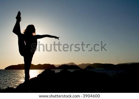 yoga posture - stock photo