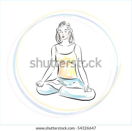yoga practice - stock photo