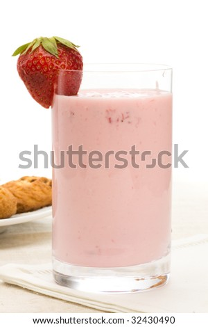 yoghurt and strawberry