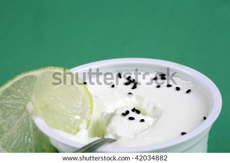yogurt background - stock photo