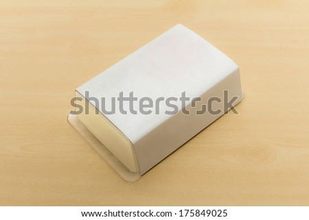 Yogurt soap natural handmade - stock photo