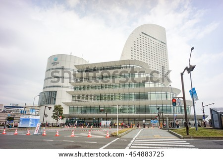 YOKOHAMA , JAPAN - MARCH 15 : The Pacifico Yokohama building , Japan on March 15 2015.